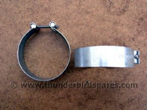 Piston Ring Clamps, Pair, for Bore Size 75-80mm. Triumph T140 & TR7, Z22